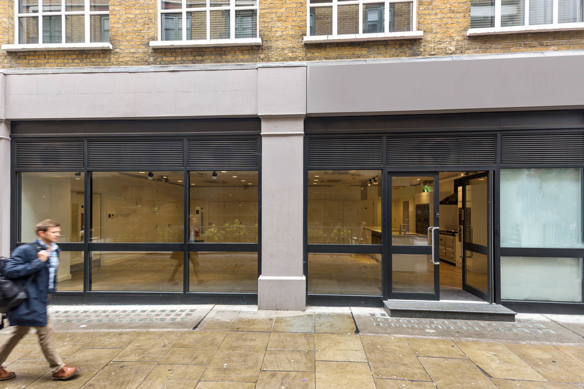 Storefront listing Unique Retail Space in Soho in Soho, London, United Kingdom.