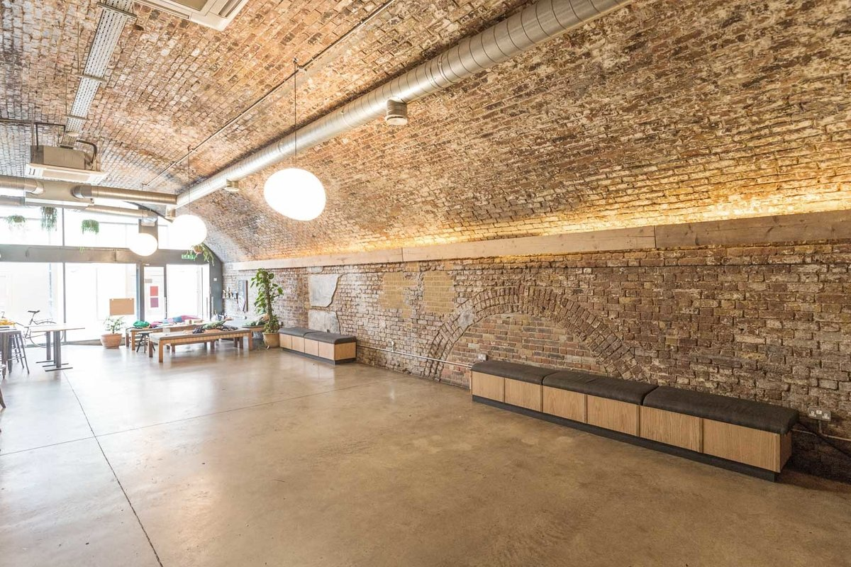 Storefront listing Spacious Haggerston Arch in Hoxton, London, United Kingdom.