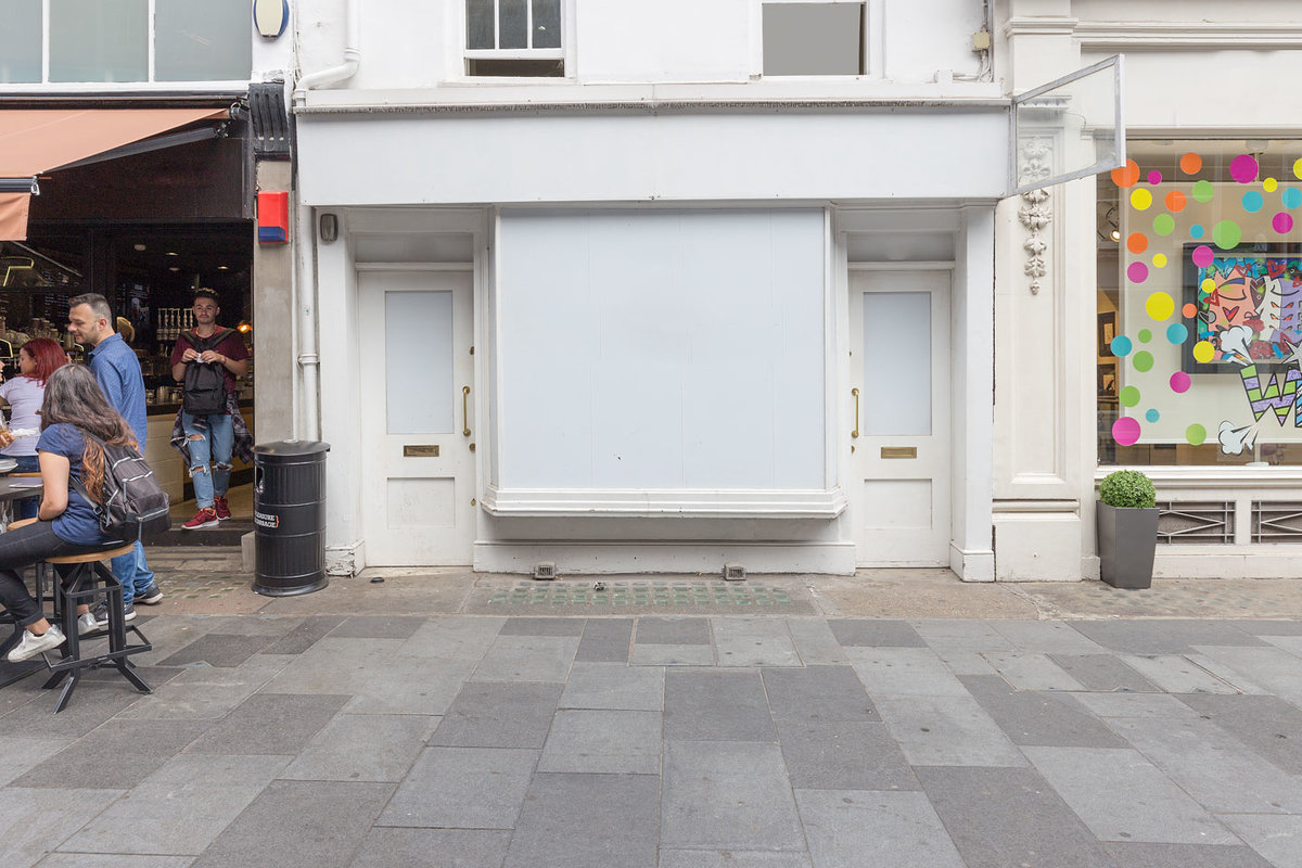 Storefront listing Pop-Up Shop in Mayfair in Westminster, London, United Kingdom.
