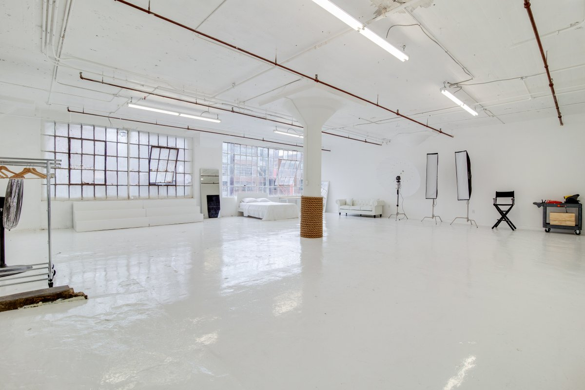 Storefront listing Bright & Open Studio in Long Island City, New York, United States.