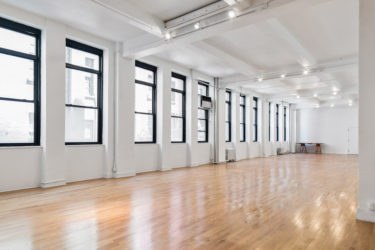 Storefront listing Loft Studio in Midtown in Chelsea, New York, United States.