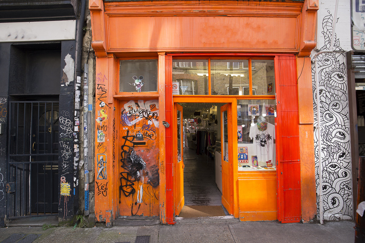 Storefront listing Brick Lane Pop-Up in Shoreditch, London, United Kingdom.
