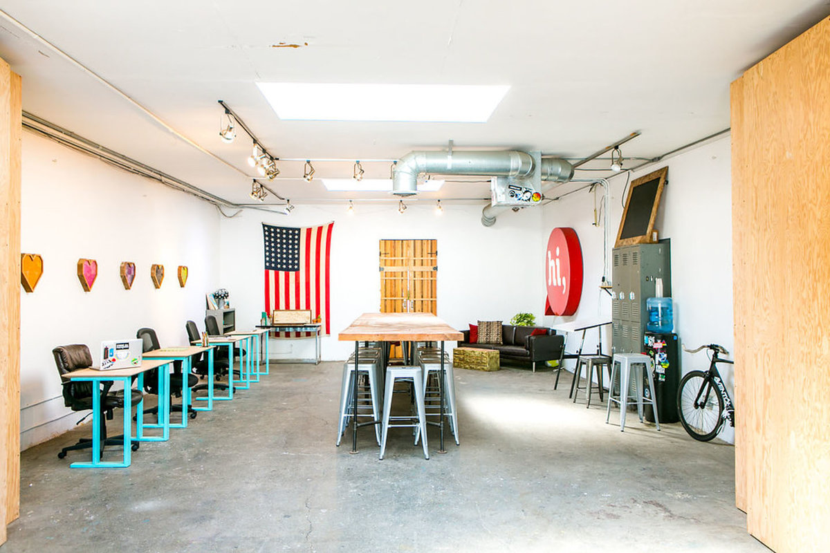 Storefront listing Event Space Close to Venice in Venice Beach, Los Angeles, United States.