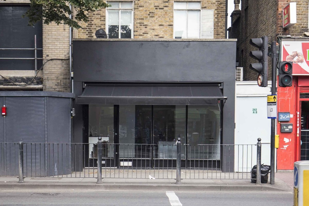 Storefront listing Bethnal Green Retail Space in Bethnal Green, London, United Kingdom.