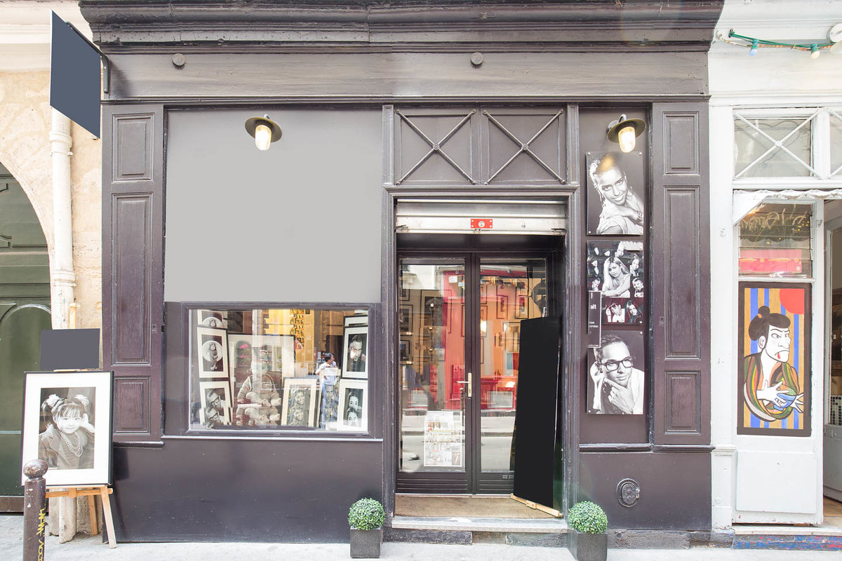 Storefront listing Boutique Space in Le Marais in Le Marais, Paris, France.