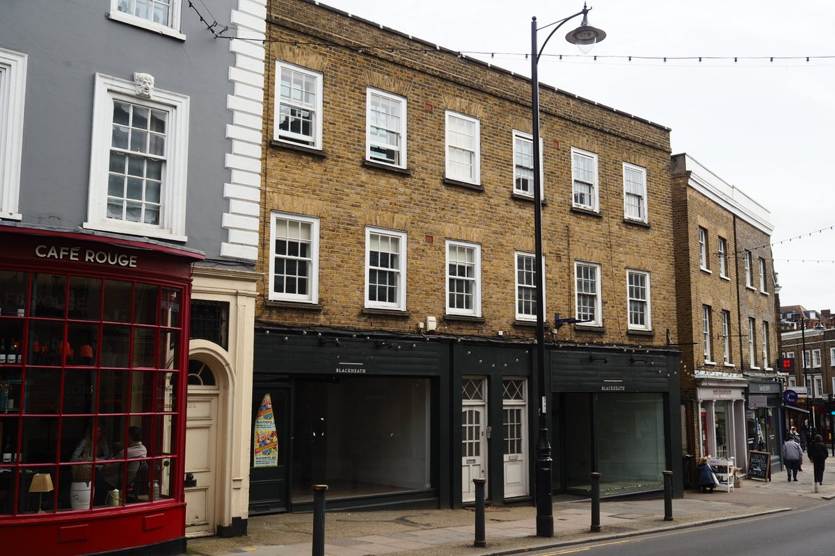 Storefront listing Blackheath Village Pop Up in Greenwich, London, United Kingdom.