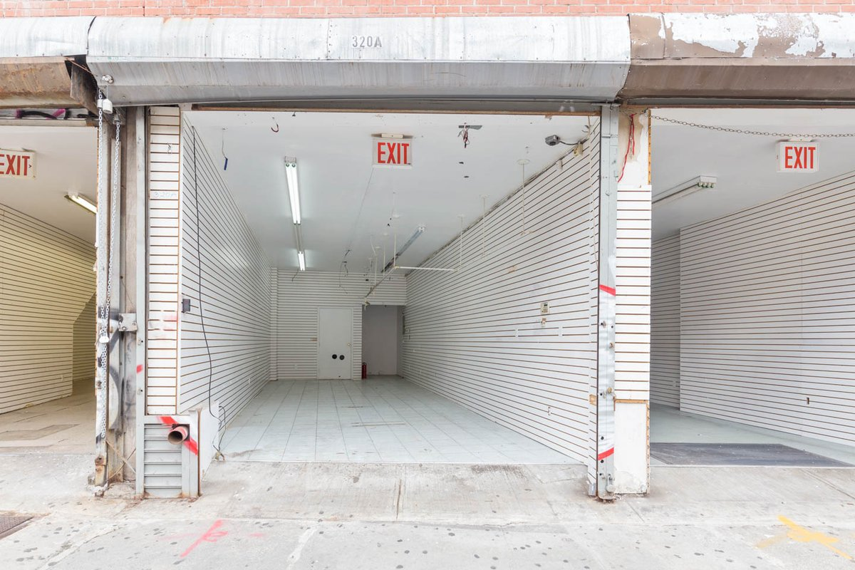 Storefront listing SoHo Pop-Up Retail Space in Tribeca, New York, United States.