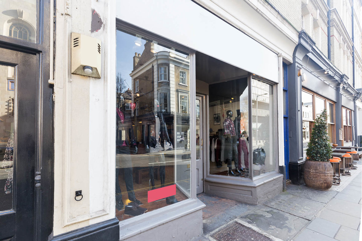 Storefront listing Pop-Up Shop in Fulham in Fulham, London, United Kingdom.