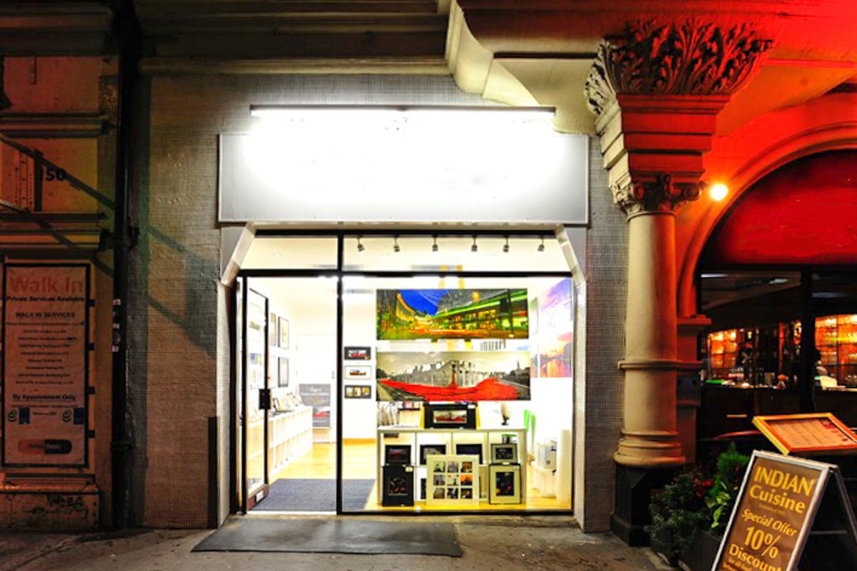 Storefront listing Art Gallery in Upmarket Fitzrovia in Bloomsbury, London, United Kingdom.