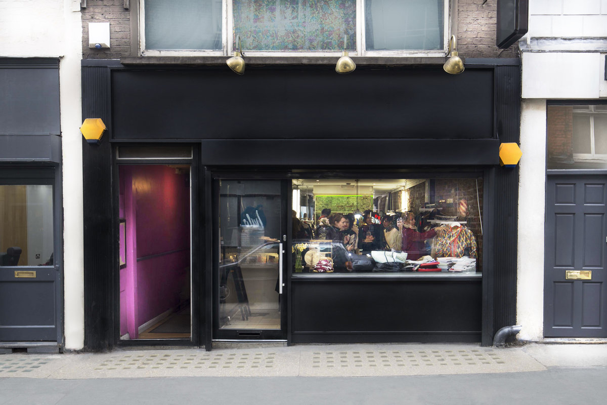 Storefront listing Pop-Up Boutique Space in Soho in Soho, London, United Kingdom.
