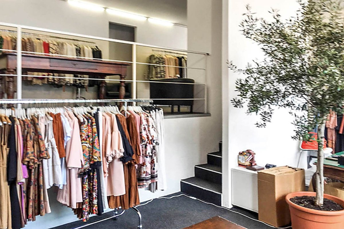 Storefront listing Gorgeous boutique near Corso Vercelli, Milan, Italy.