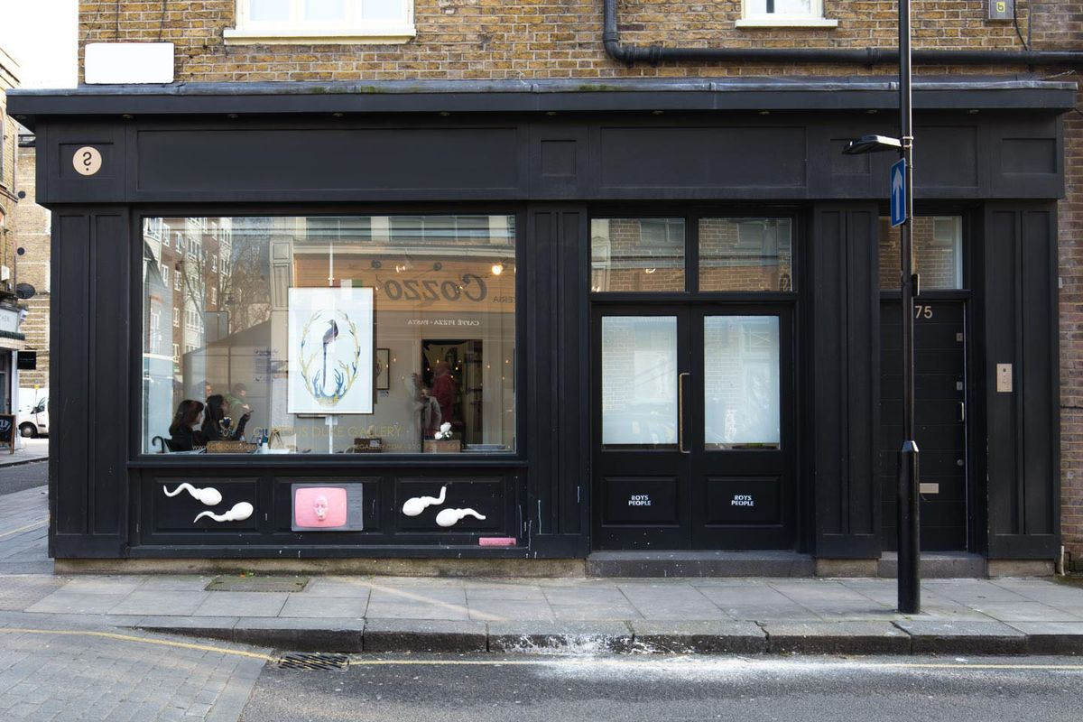 Storefront listing Pop-Up Showroom in Clerkenwell in Barbican, London, United Kingdom.
