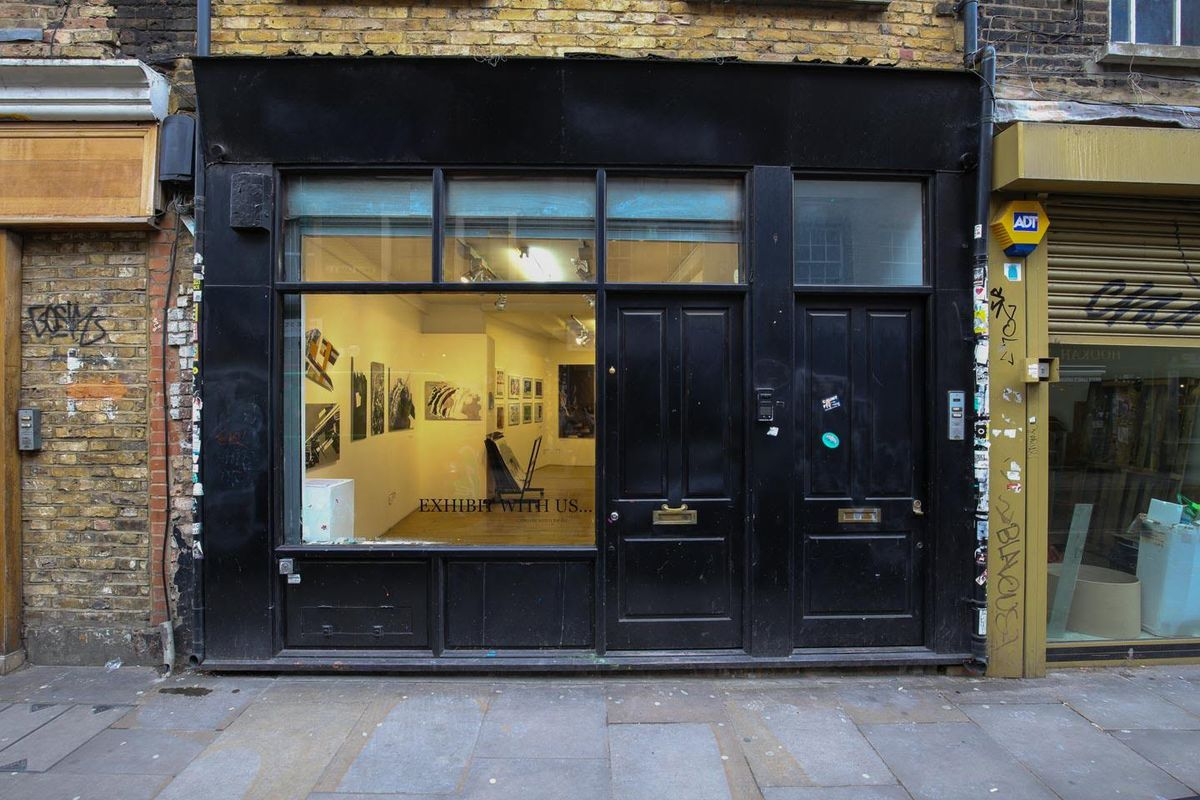 Storefront listing Quirky East End Gallery Space in Shoreditch, London, United Kingdom.