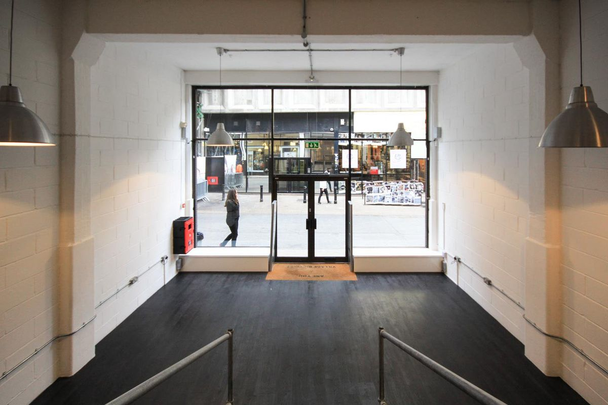 Storefront listing Urban Pop-Up Space on Brick Lane in Shoreditch, London, United Kingdom.