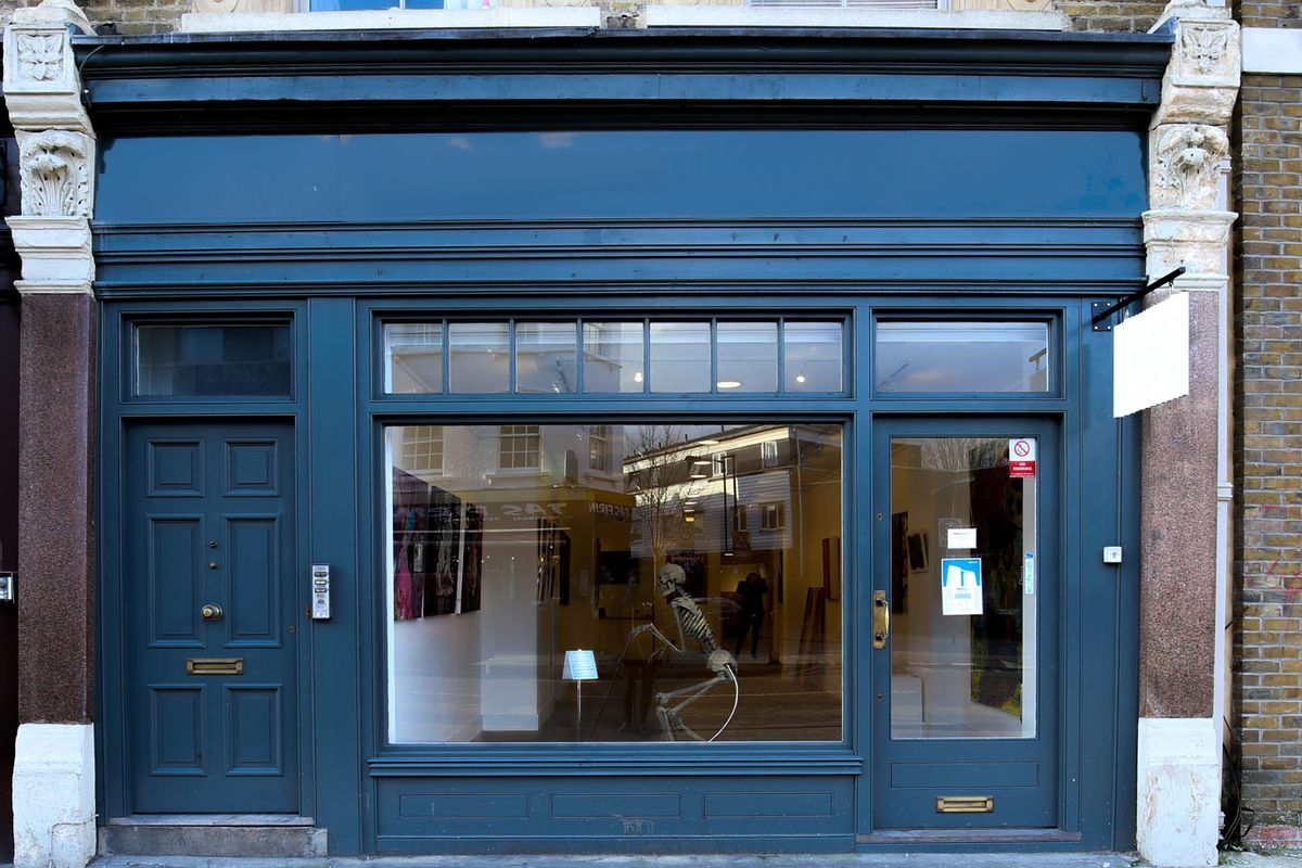 Storefront listing Sleek Art Gallery in Shoreditch in Shoreditch, London, United Kingdom.