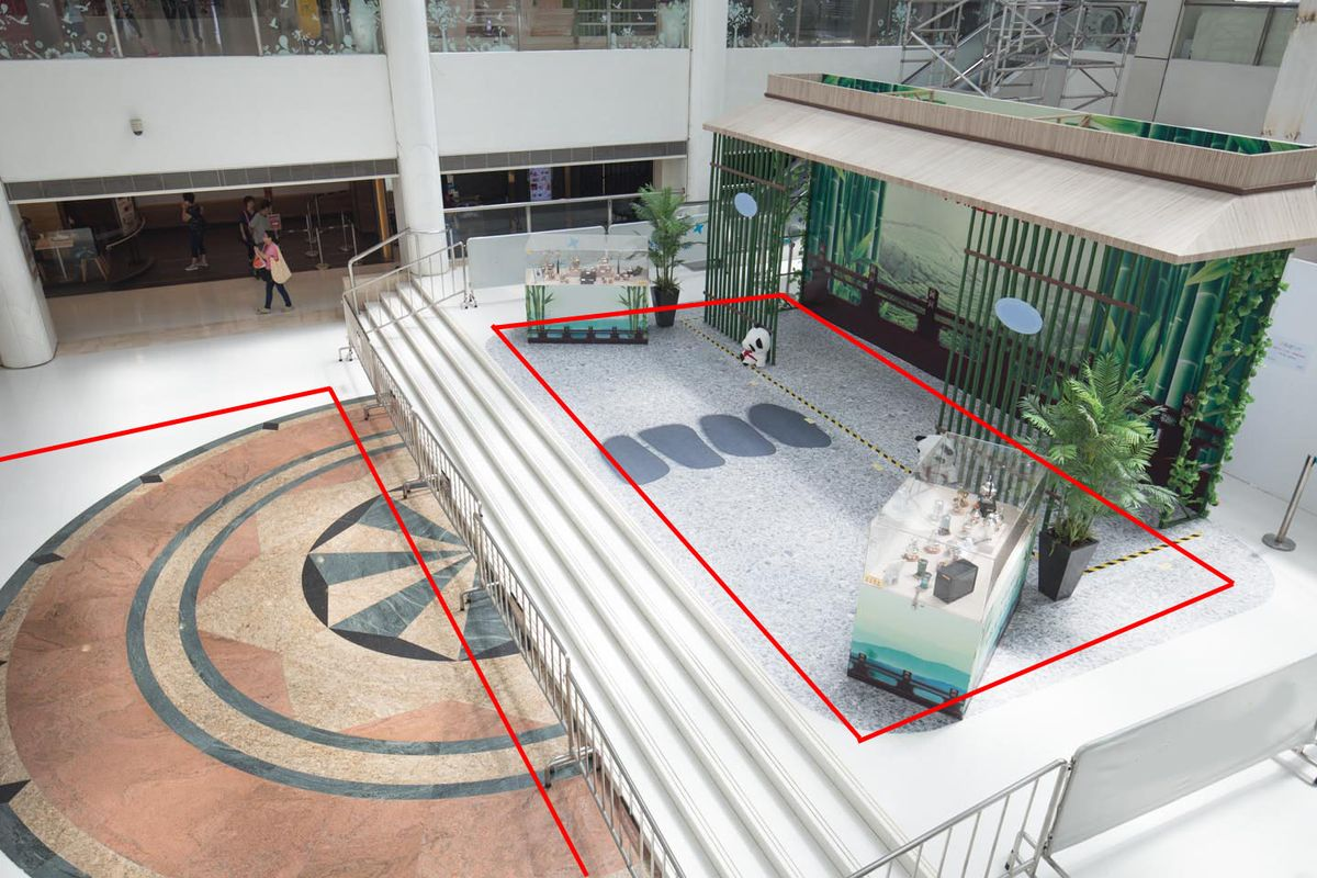 Storefront listing Large Pop-Up Space in Tai Po Mall in Tai Po, Hong Kong, Hong Kong.
