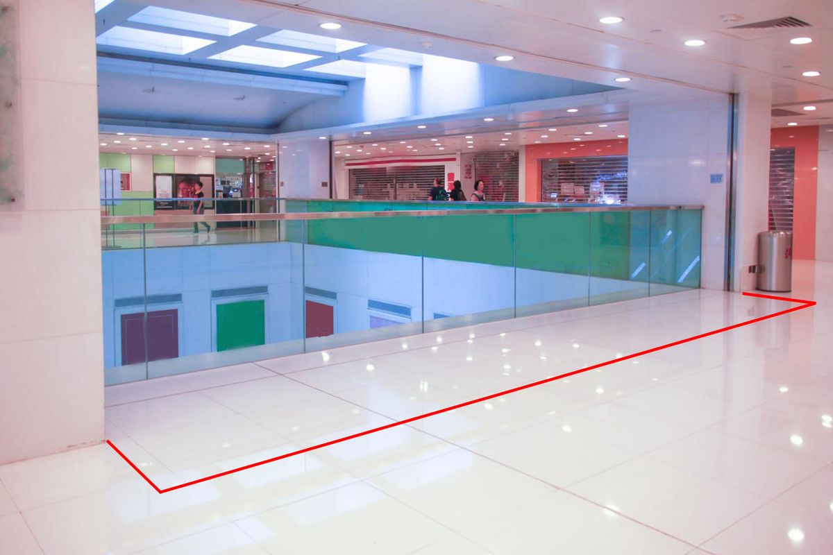 Storefront listing Modern Pop-Up Space in a busy Shatin shopping mall in Sha Tin, Hong Kong, Hong Kong.
