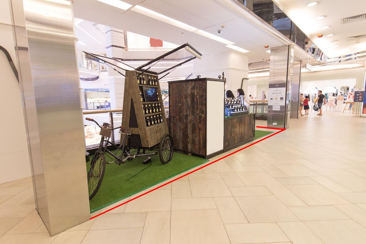 Storefront listing Ideal Pop-Up Space in TST Mall in Tsim Sha Tsui, Hong Kong, Hong Kong.