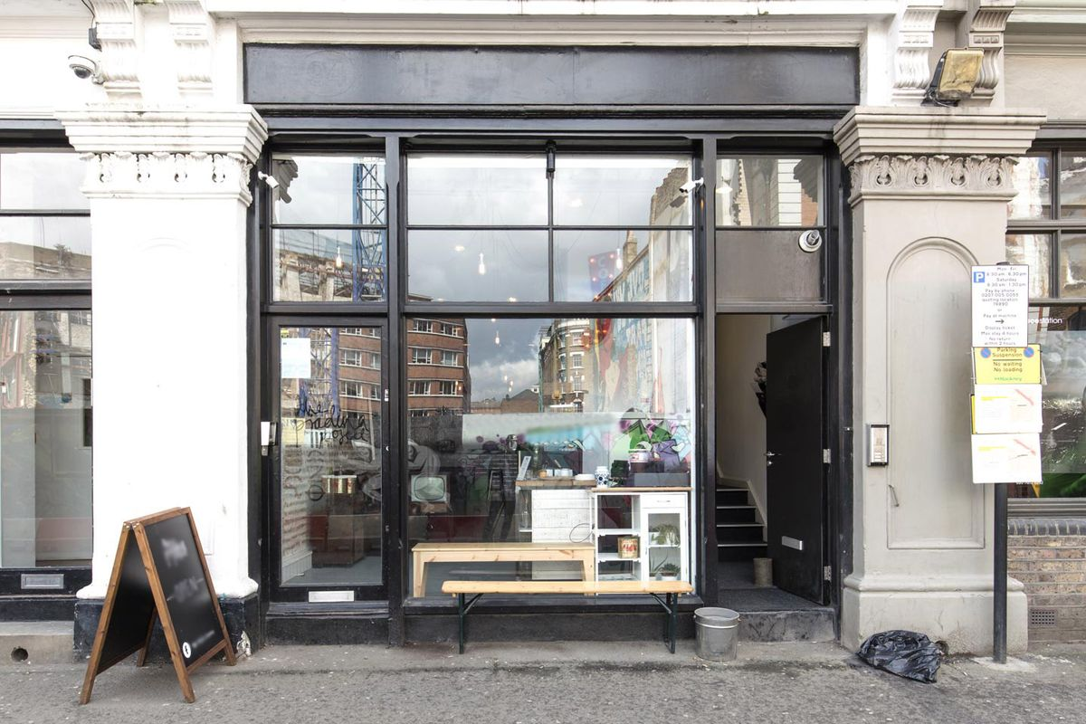 Storefront listing Pop-Up Cafe & Shop in Shoreditch in Shoreditch, London, United Kingdom.