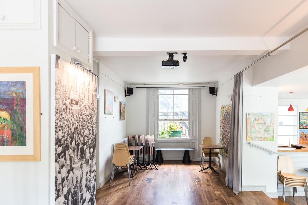 Storefront listing Event Space in Westbourne Park in Notting Hill, London, United Kingdom.