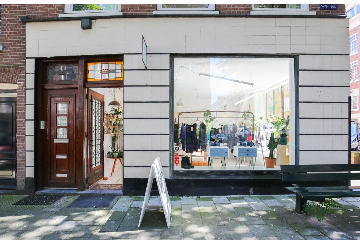 Storefront listing Pop-Up Shop in the Lively De Pijp, Amsterdam, Netherlands.
