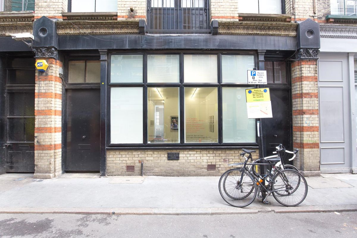 Storefront listing Sleek Gallery Near Old Street in Shoreditch, London, United Kingdom.