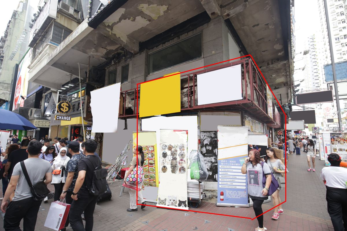 Storefront listing Pop-up space with extremely high foot traffic in Mong Kong in Mong Kok, Hong Kong, Hong Kong.