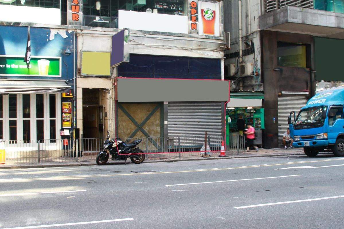 Storefront listing Pop-up space for stores & restaurants with prime location in Wan Chai in Wan Chai, Hong Kong, Hong Kong.