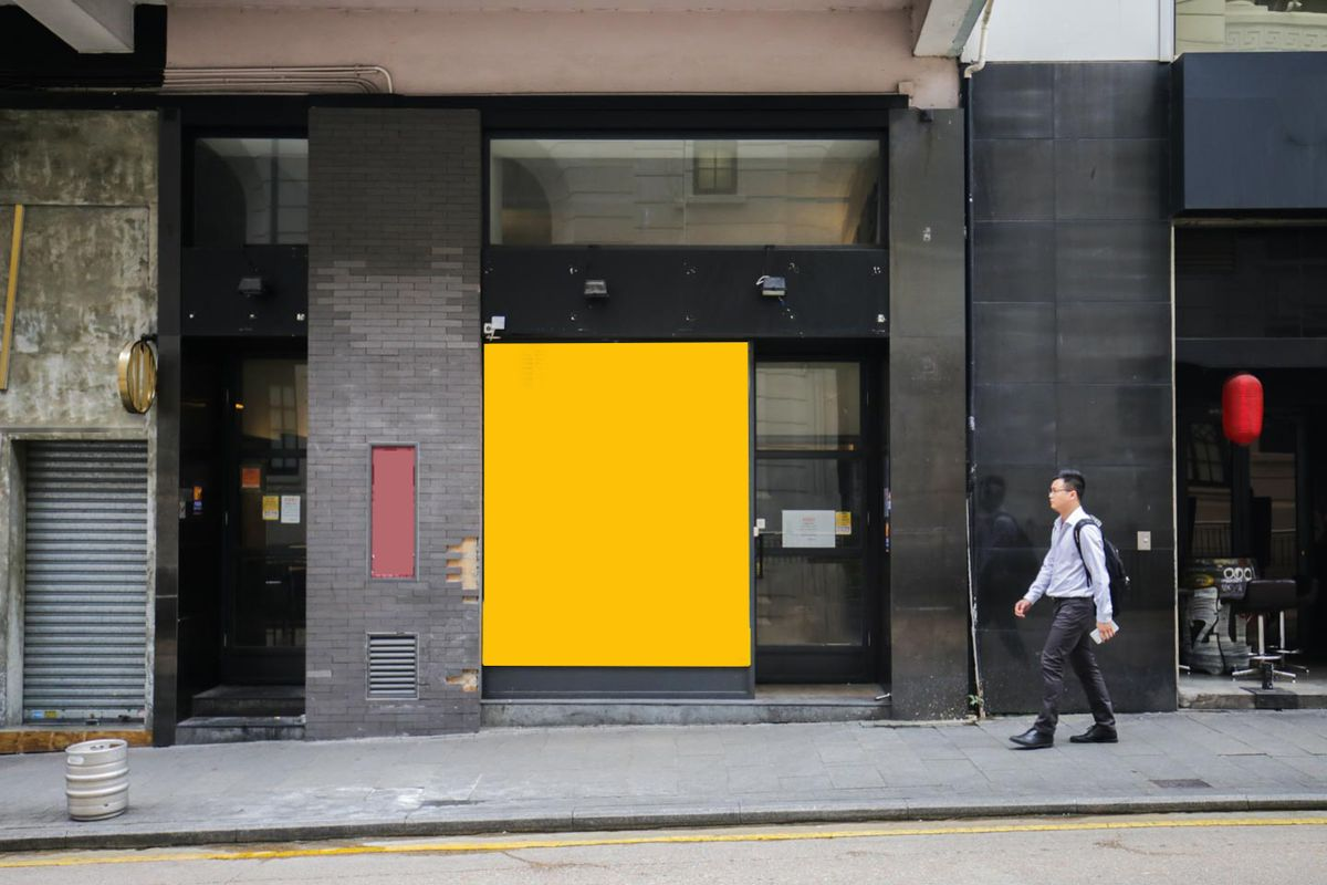 Storefront listing Large Pop-Up Space in Central SoHo in Central, Hong Kong, Hong Kong.