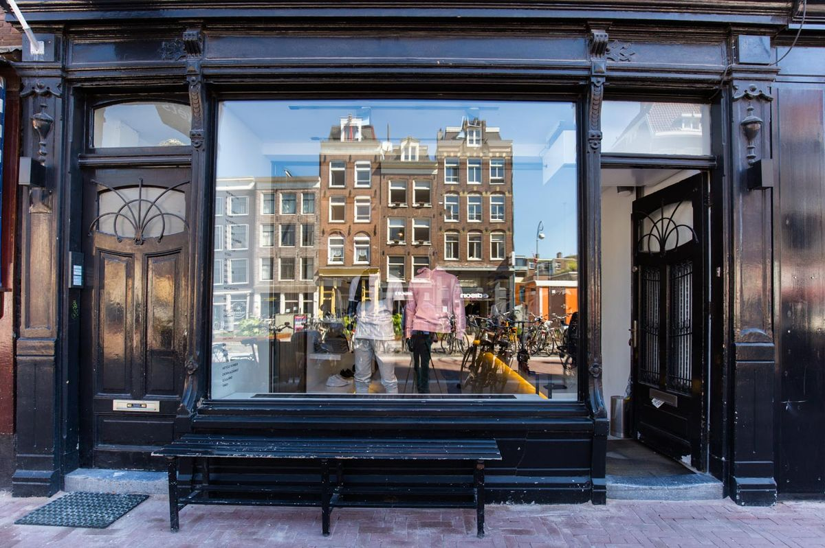 Storefront listing Trendy Pop-Up Shop in Jordaan, Amsterdam, Netherlands.