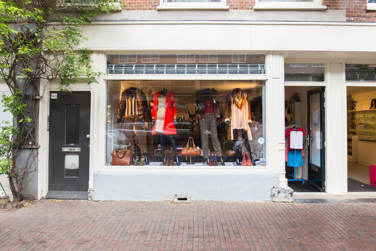 Storefront listing Pop-Up Space in Hallenkwartier, Amsterdam, Netherlands.