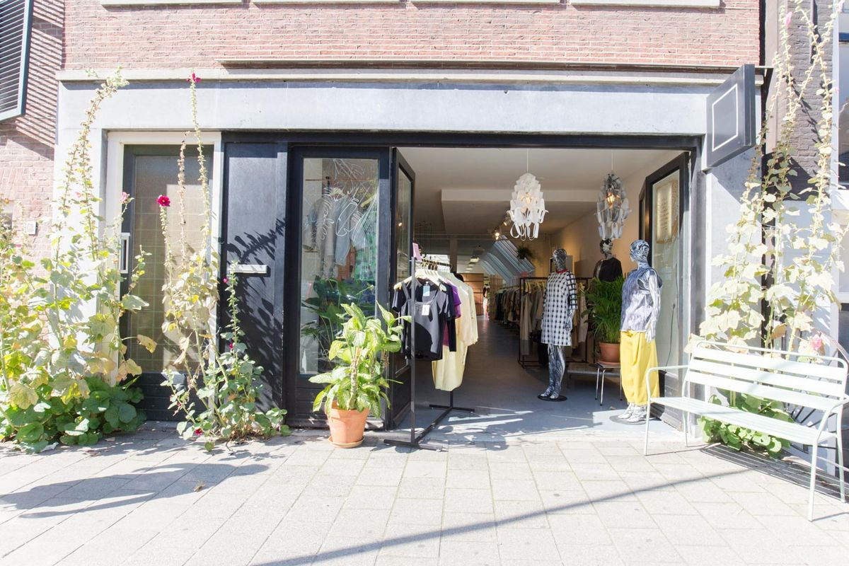 Storefront listing Fashion Showroom in Jordaan in Jordaan, Amsterdam, Netherlands.