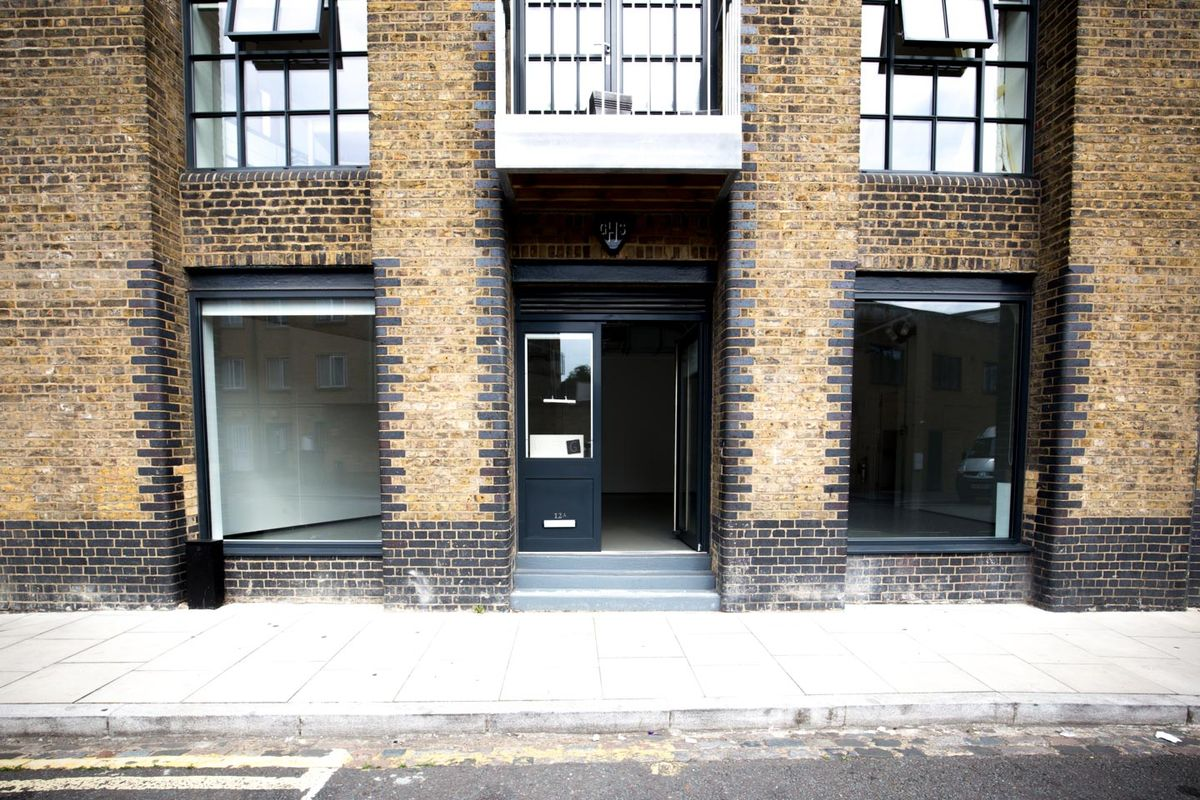 Storefront listing Contemporary Showroom in Hackney in Hackney, London, United Kingdom.