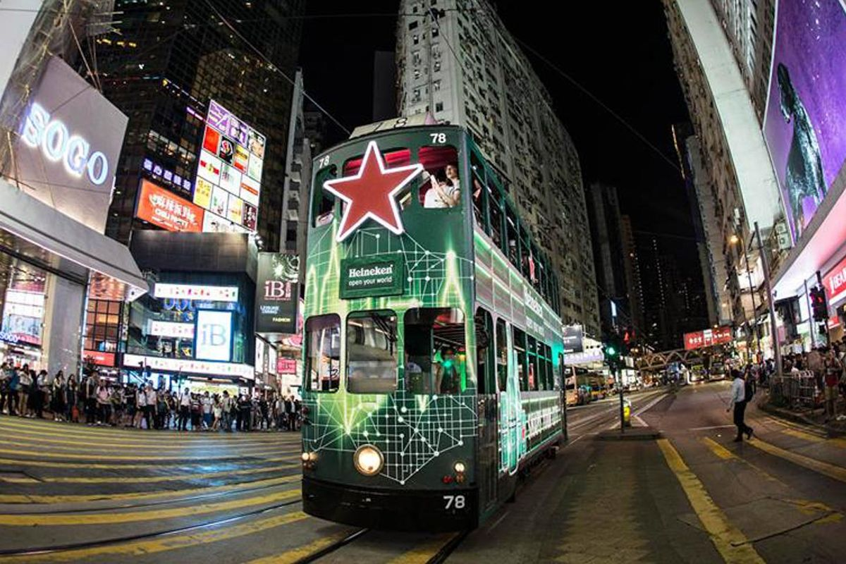 Storefront listing Double Decker Pop-Up Tram in Central, Hong Kong, Hong Kong.
