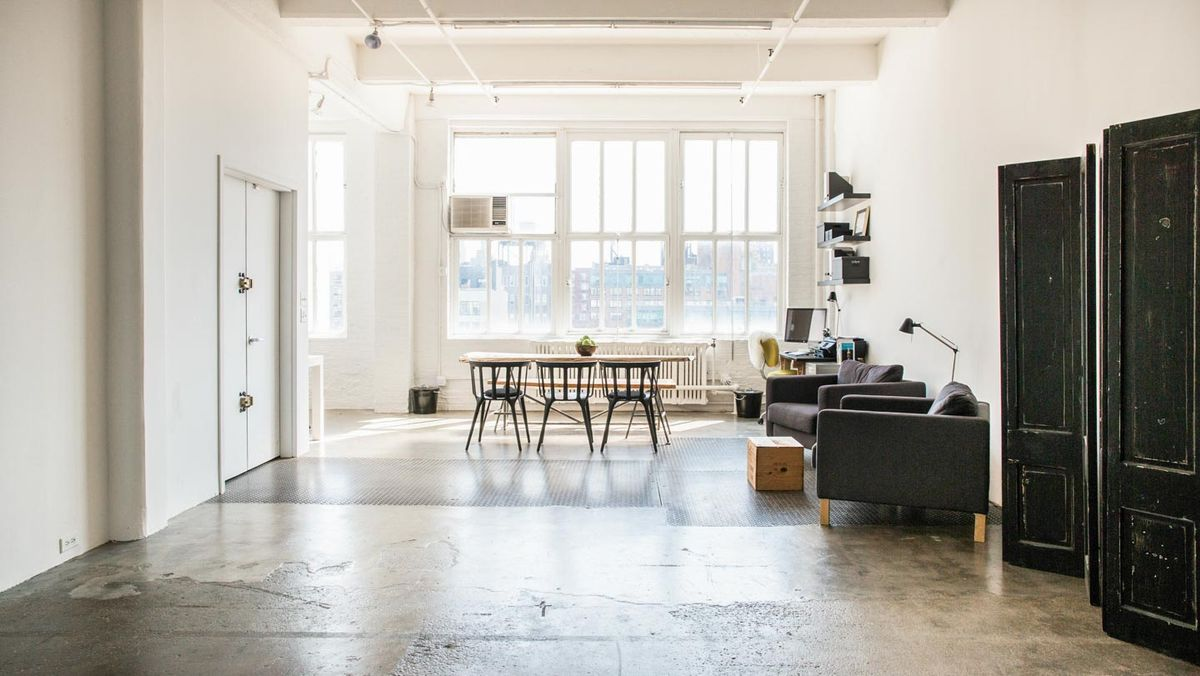 Storefront listing Bright Loft in Chelsea in Chelsea, New York, United States.