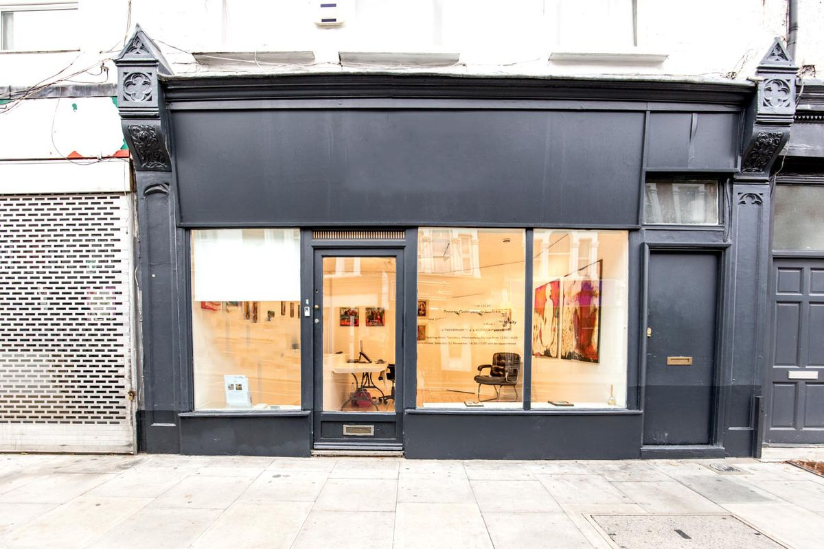 Storefront listing Showroom Close to Fulham Broadway in Fulham, London, United Kingdom.