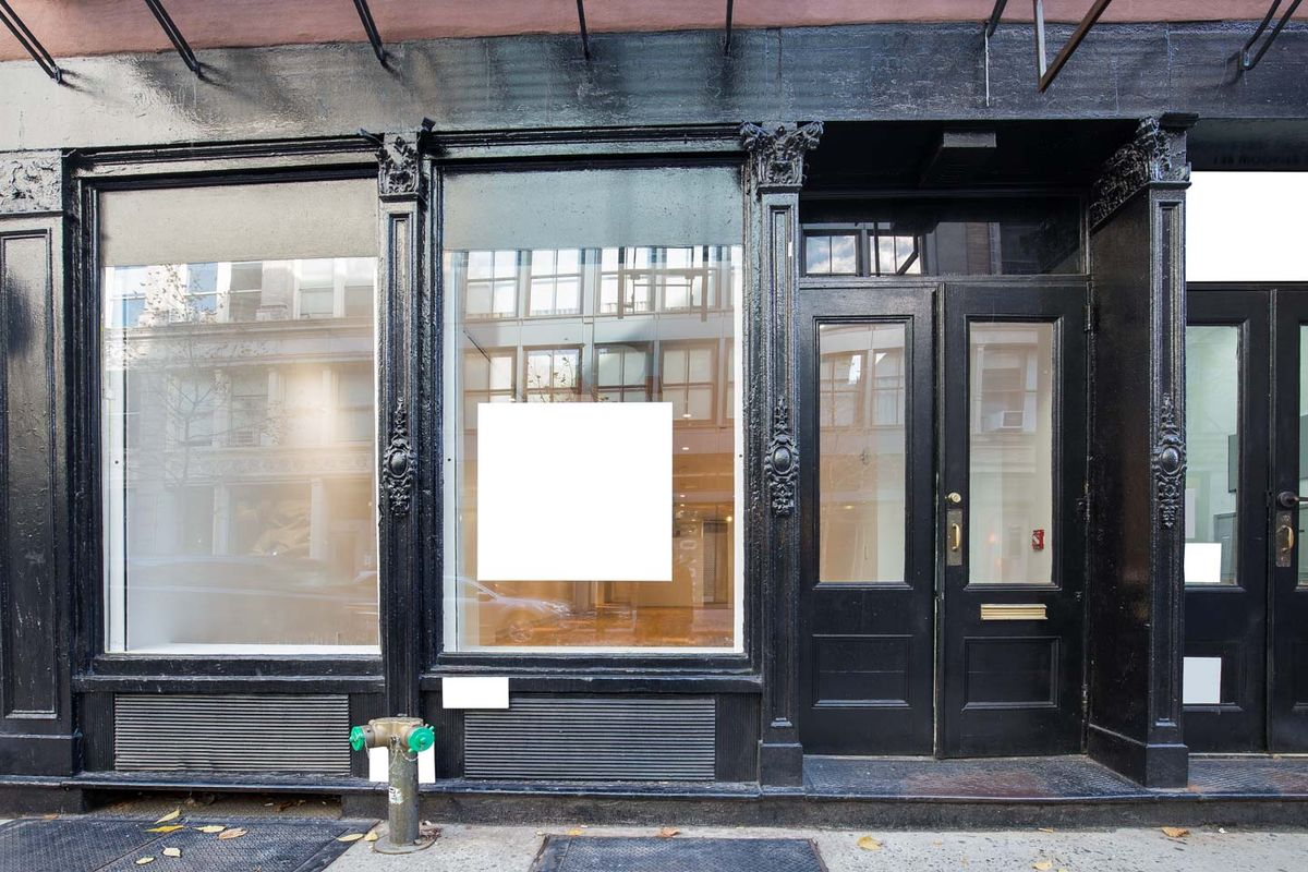Storefront listing Prime Pop-Up Store in Vibrant Soho, New York, United States.