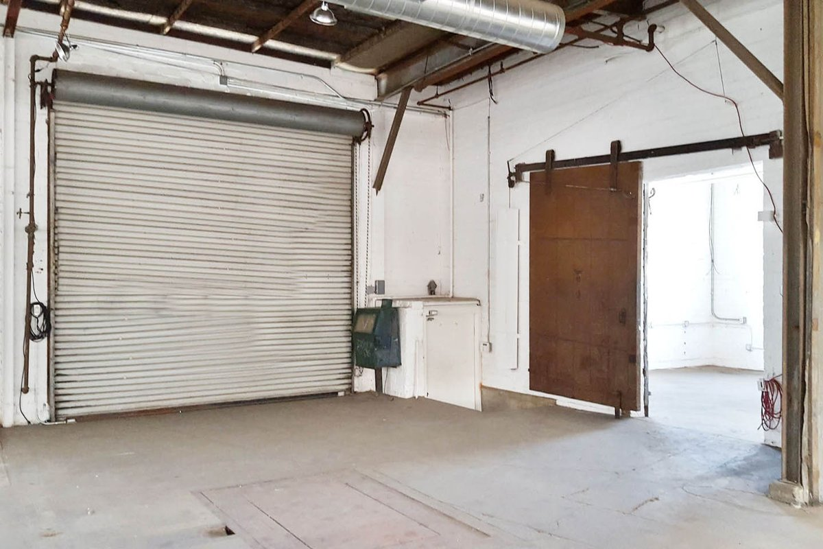 Storefront listing Raw space in the Arts Districts, Los Angeles, United States.