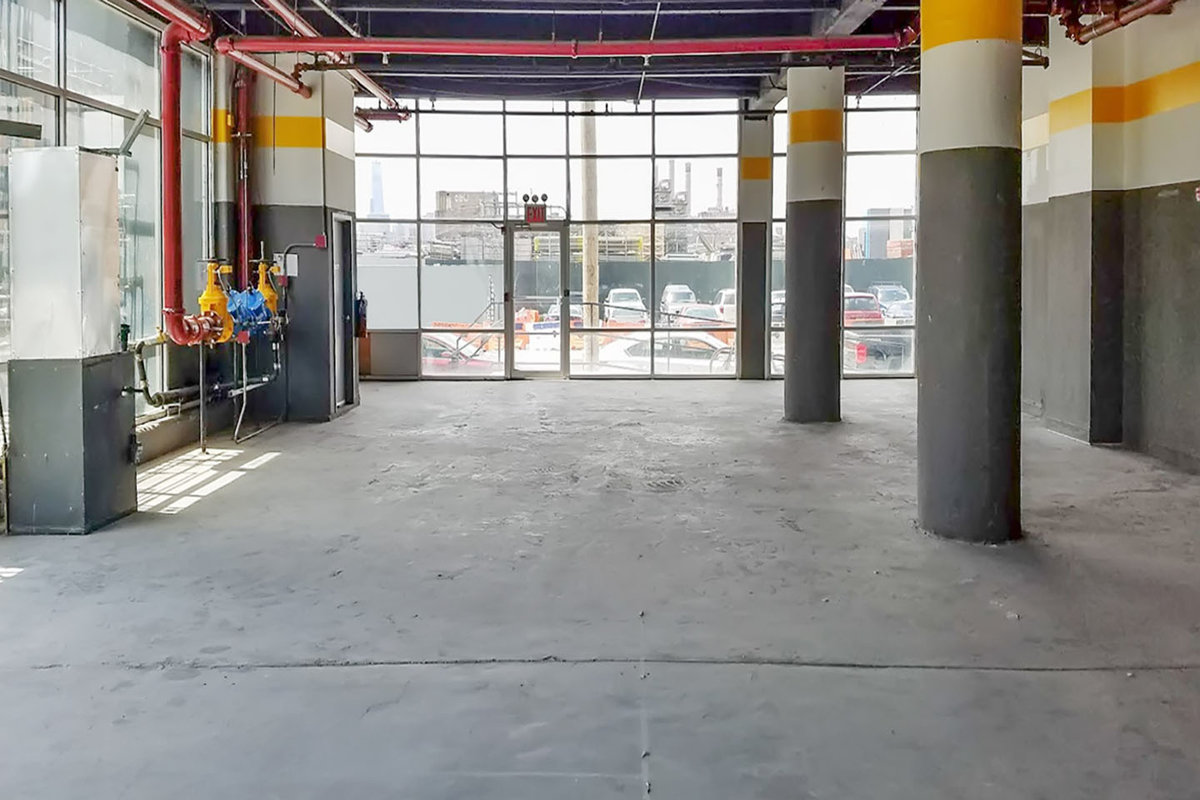 Storefront listing Vast Greenpoint Retail Space in Greenpoint, New York, United States.