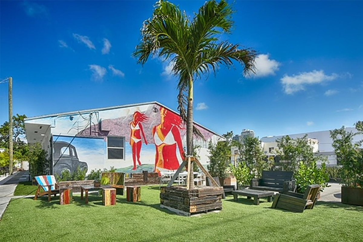 Storefront listing Unique Lounge in Wynwood in Wynwood, Miami, United States.