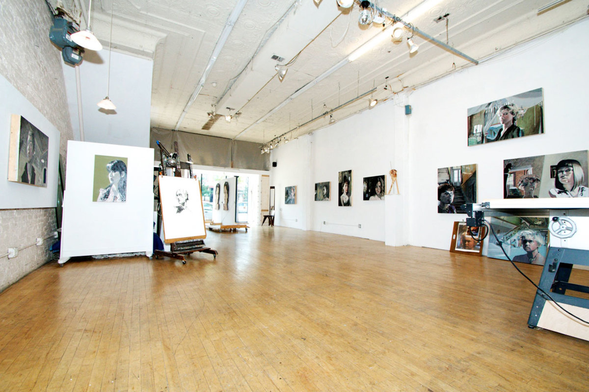Storefront listing Gallery Space Near Wicker Park in Humboldt Park, Chicago, United States.