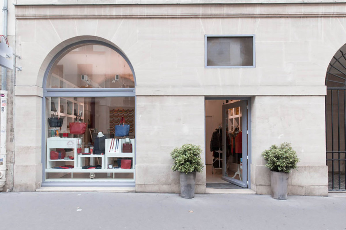 Storefront listing Boutique in Busy Le Marais in Le Marais, Paris, France.