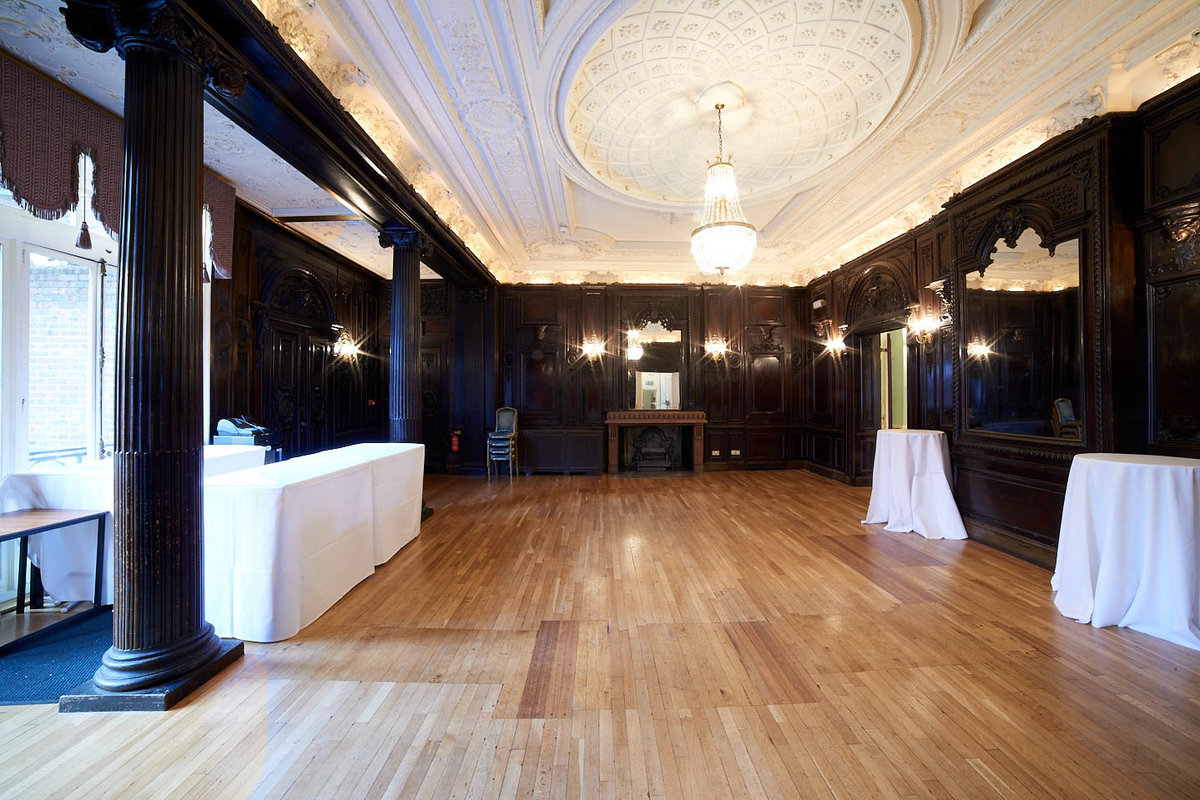 Storefront listing Louis XIV Ballroom in Mayfair, London, United Kingdom.