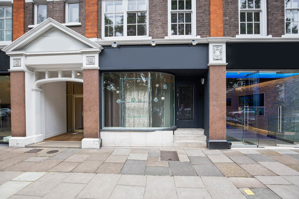 Storefront listing South Kensington Retail Space in Chelsea, London, United Kingdom.