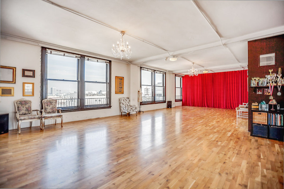 位於United StatesLos AngelesDowntown的Vintage Dance Studio Loft in DTLA