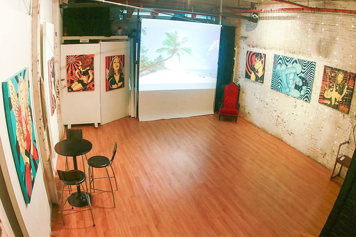 Storefront listing Trendy Event Space in Hoboken in Hoboken, Jersey City, United States.