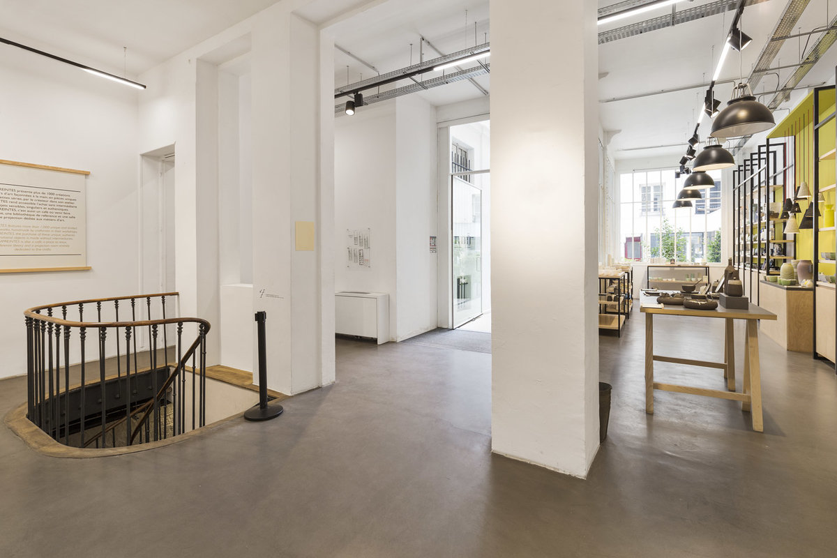 Storefront listing Basement Event Space in Le Marais in Le Marais, Paris, France.