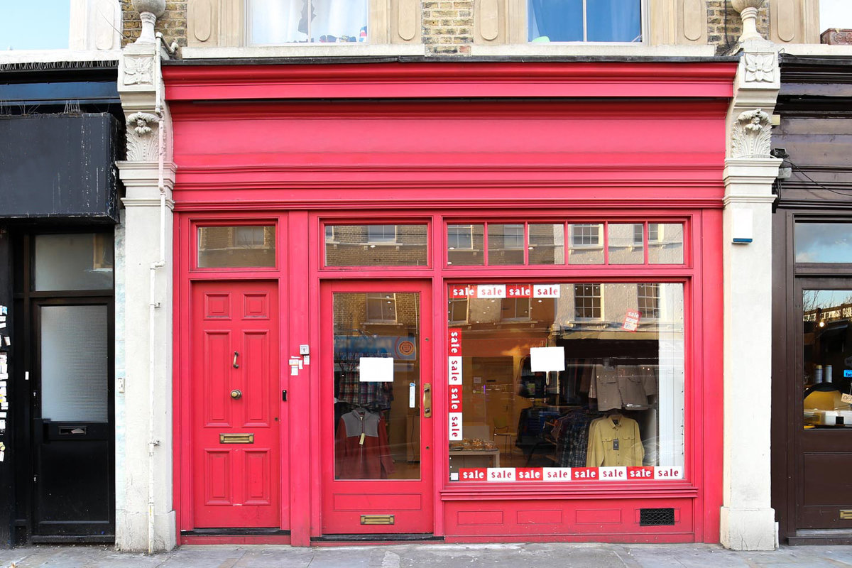 Storefront listing Pop-Up Boutique in Bethnal Green in Bethnal Green, London, United Kingdom.